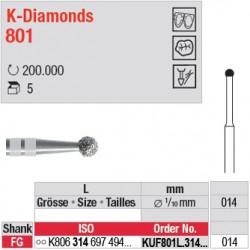 KUF801L.314.014 - K-Diamonds boule avec col - grain ultra fin