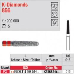 KF856.314.016 - K-Diamonds cône, bout arrondi - grain fin