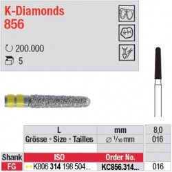 KC856.314.016 - K-Diamonds cône, bout arrondi - grain super fin