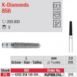 KUF856.314.016 - K-Diamonds cône, bout arrondi - grain ultra fin