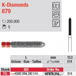 KF879.314.014 - K-Diamonds cylindre à biseau - grain fin