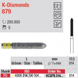 KC879.314.014 - K-Diamonds cylindre à biseau - grain super fin