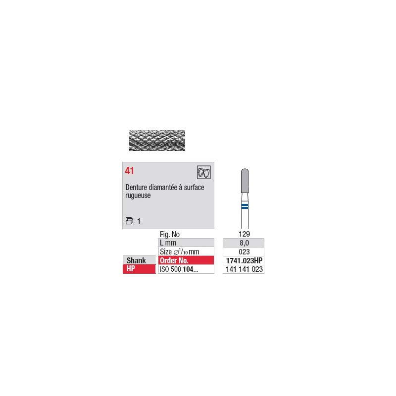 Fraise en carbure - 1741.023HP