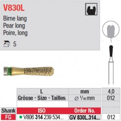 GV830L.314.012 - DIACUT - Poire, long