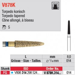 V878K.314.014 - DIACUT - Cône allongé, à biseau