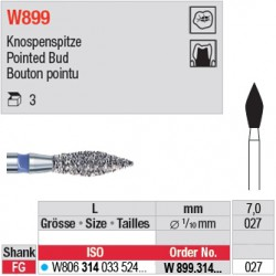 W899.314.027 - White Tiger - Bouton pointu