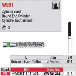 GW881.314.014 - White Tiger - Cylindre, bout arrondi