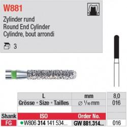 GW881.314.016 - White Tiger - Cylindre, bout arrondi