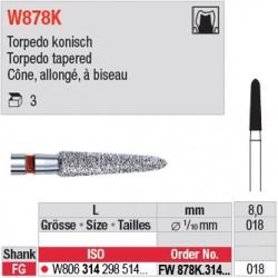 FW878K.314.018 - White Tiger - Cône, allongé, à biseau