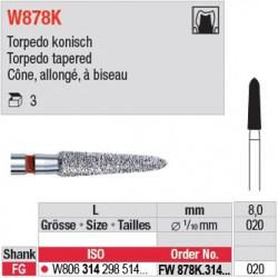 FW878K.314.020 - White Tiger - Cône, allongé, à biseau