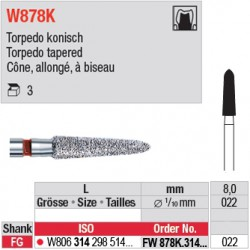 FW878K.314.022 - White Tiger - Cône, allongé, à biseau