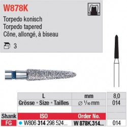 W878K.314.014 - White Tiger - Cône, allongé, à biseau