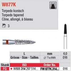 FW877K.314.016 - White Tiger - Cône, allongé, à biseau