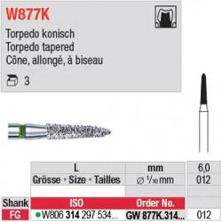 GW877K.314.012 - White Tiger - Cône, allongé, à biseau