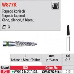 GW877K.314.016 - White Tiger - Cône, allongé, à biseau