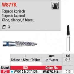 W877K.314.016 - White Tiger - Cône, allongé, à biseau