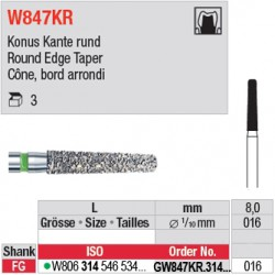 GW847KR.314.016 - White Tiger - Cône, bord arrondi