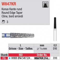 W847KR.314.016 - White Tiger - Cône, bord arrondi