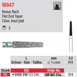 GW847.314.014 - White Tiger - Cône, bout plat