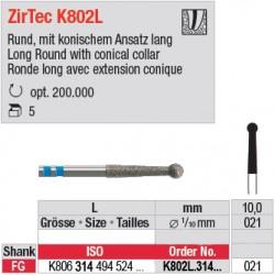 K802L.314.021 - fraise diamant ZirTec Trepanation