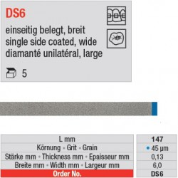 DS 6 - diamanté unilatéral large