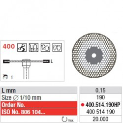 400.514.190HP - Disque diamanté SUPERFLEX (fin)