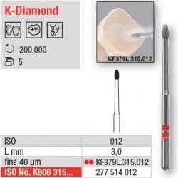 KF379L.315.012 - fraises K-Diamond