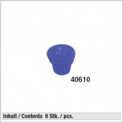40610 bouchons silicone pour supports inox