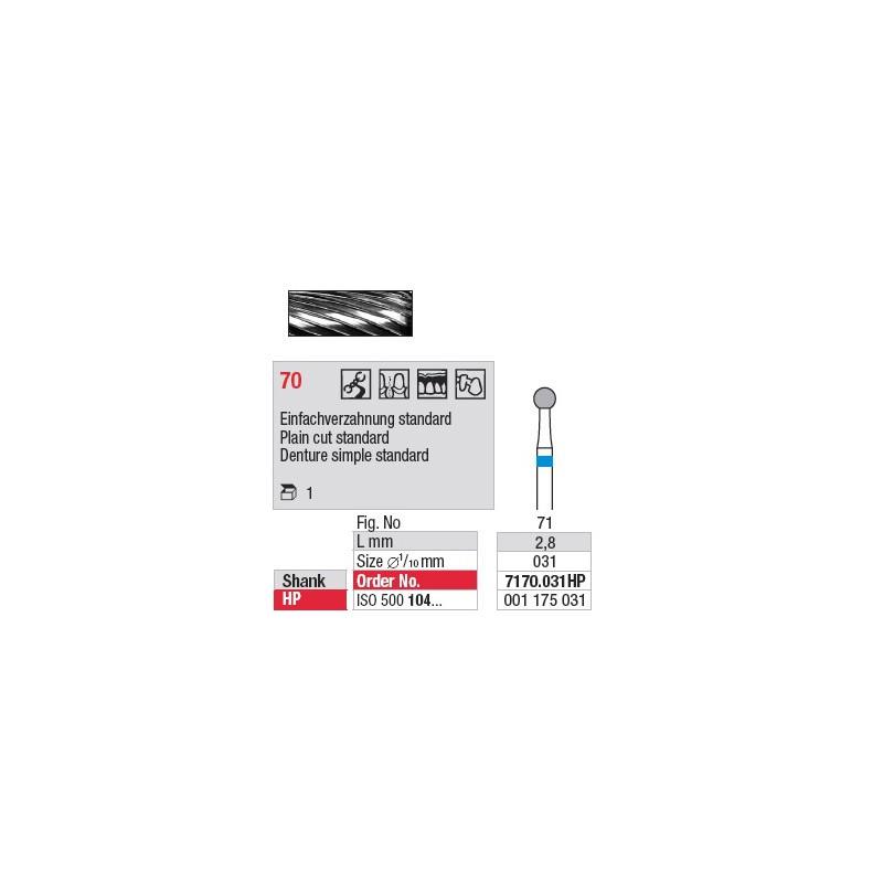 Fraise en carbure - 7170.031HP