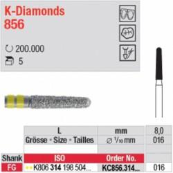 K-Diamonds - cône, bout arrondi - KC856.314.016