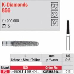K-Diamonds - cône, bout arrondi - KUF856.314.016