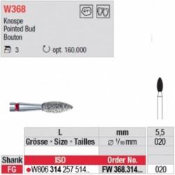 FW368.314.020 - Diamant WhiteTIGER bouton (grain fin)