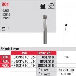 801.316.014 Fraises diamantées - tige FGXL