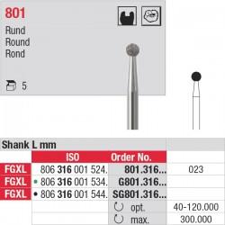 801.316.023 Fraises diamantées - tige FGXL