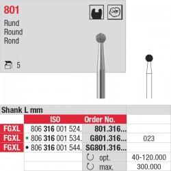 G801.316.023 Fraises diamantées - tige FGXL