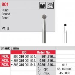 SG801.316.016 Fraises diamantées - tige FGXL