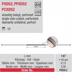 PXDS 2 - strips diamantés perforés