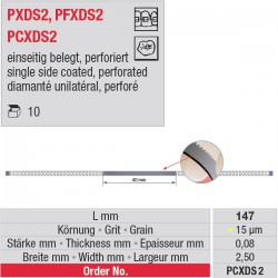 PCXDS 2 - strips diamantés perforés