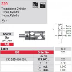 229.205.025 Trépan cylindre