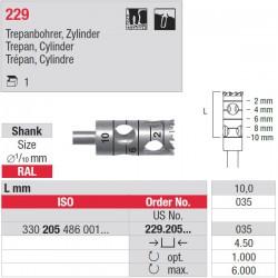 229.205.035 Trépan cylindre