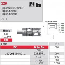 229.205.080 Trépan cylindre