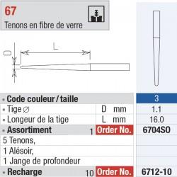 6712-10 Recharge - FiberMaster, conique sans tête