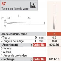 6611-10 Recharge - FiberMaster, conique sans tête