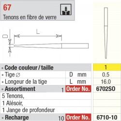 6710-10 Recharge - FiberMaster, conique avec tête