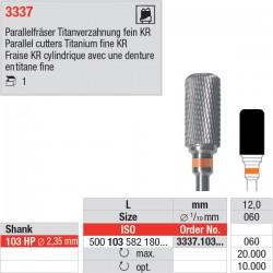 Fraise cylindrique, extrémité arrondie, 3337.103.060