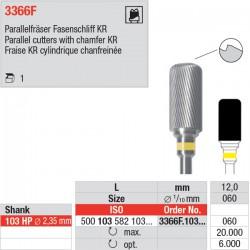 Fraise cylindrique, extrémité arrondie, 3366F.103.060