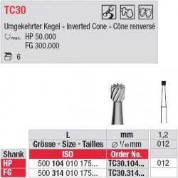 Fraises à finir - TC30.104.012
