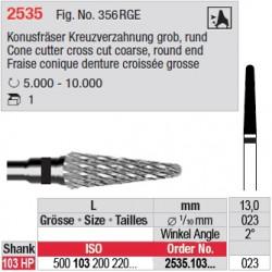 Fraise conique denture croisée grosse - 2535.103.023
