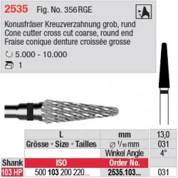 Fraise conique denture croisée grosse - 2535.103.031