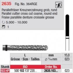 Fraise parallèle denture croisée grosse - 2635.103.023